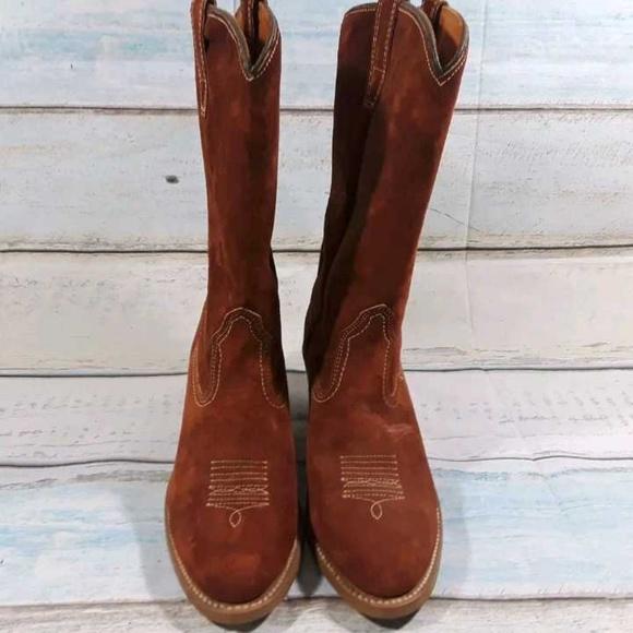 e0d37bd76a0 Wolverine Women's Suede Western Cowboy Boot Sz 9 M